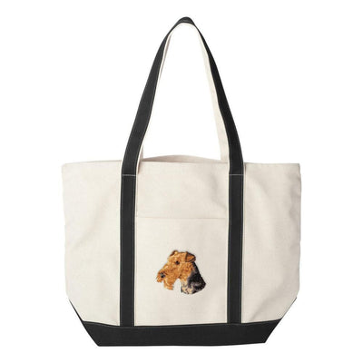 Airedale Terrier Embroidered Tote Bag