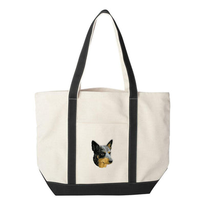 Australian Cattle Dog Embroidered Tote Bag