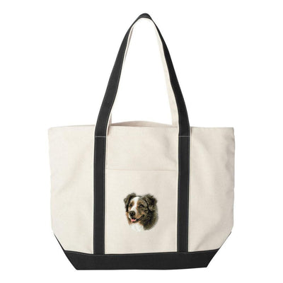 Australian Shepherd Embroidered Tote Bag