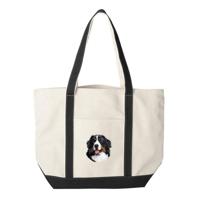 Bernese Mountain Dog Embroidered Tote Bag