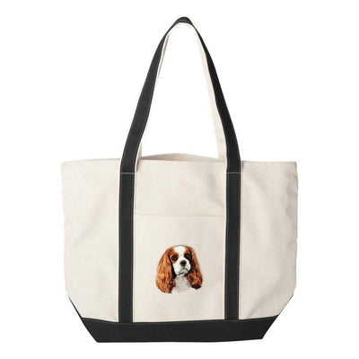 Cavalier King Charles Spaniel Embroidered Tote Bag