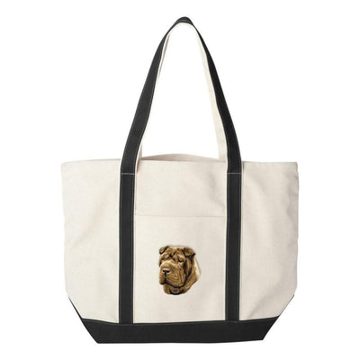 Chinese Shar Pei Embroidered Tote Bag