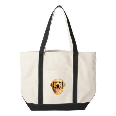 Golden Retriever Embroidered Tote Bag
