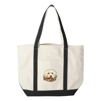 Havanese Embroidered Tote Bag