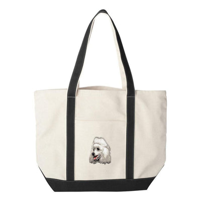 Poodle Embroidered Tote Bag