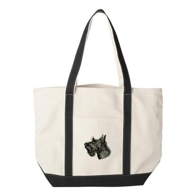 Scottish Terrier Embroidered Tote Bag