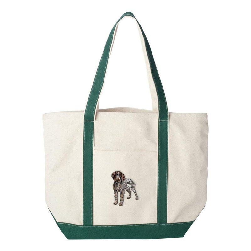 Embroidered Tote Bag Green  Wirehaired Pointing Griffon DV193