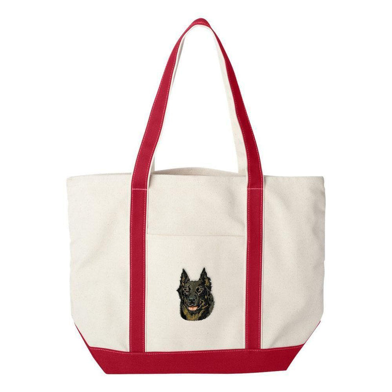 Embroidered Tote Bag Green  Beauceron DV165