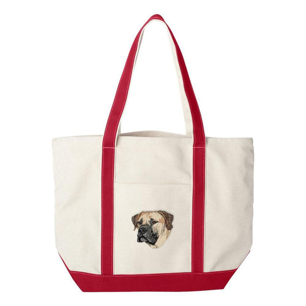 Embroidered Tote Bag Green  Boerboel DV209