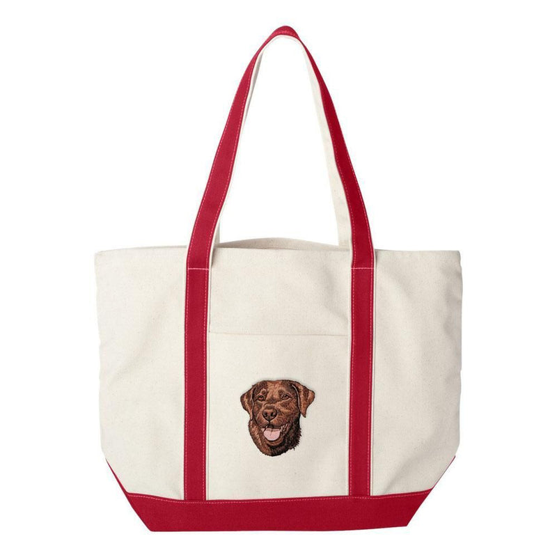 Embroidered Tote Bag Green  Labrador Retriever DM444