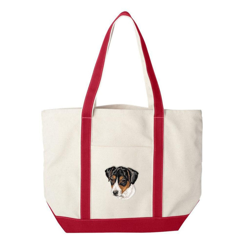 Embroidered Tote Bag Green  Parson Russell Terrier DV351
