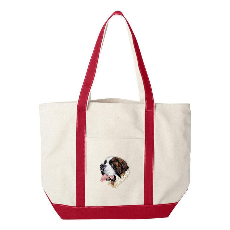 Embroidered Tote Bag Green  Saint Bernard DM251