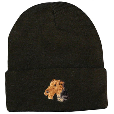 Airedale Terrier Embroidered Beanies