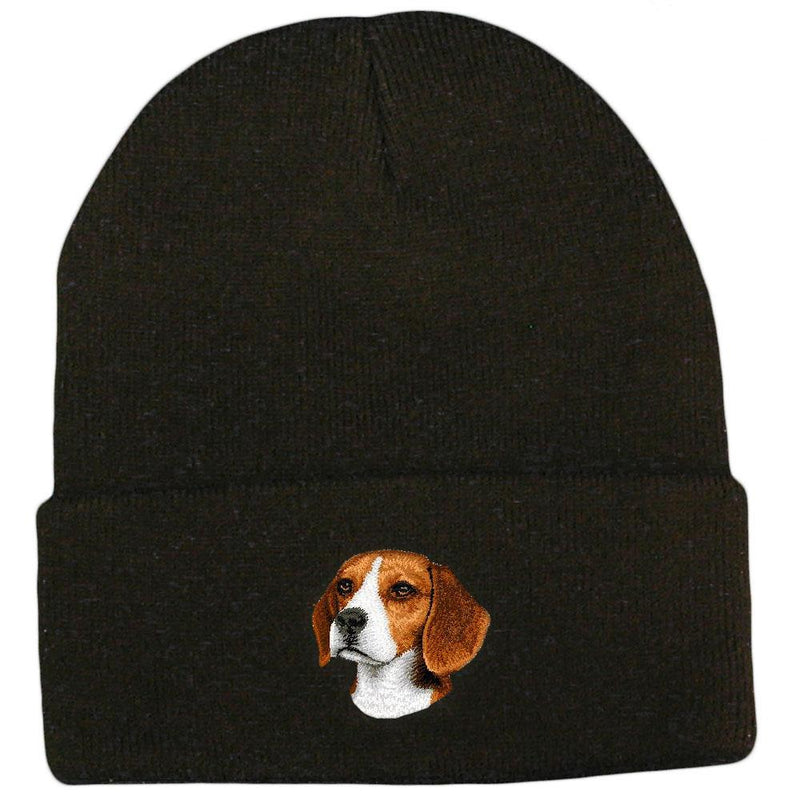 Embroidered Beanies Black  Beagle D31