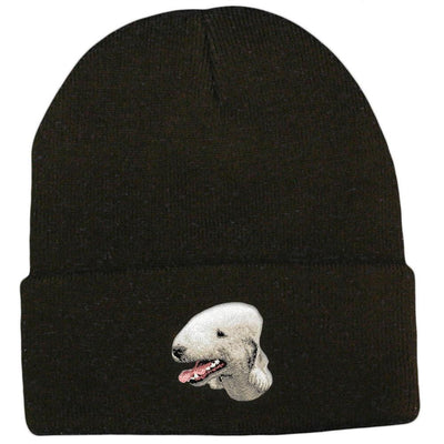 Bedlington Terrier Embroidered Beanies