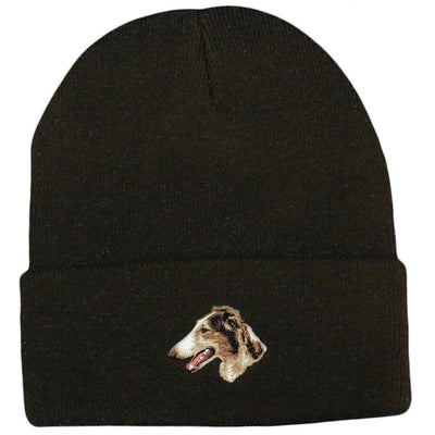 Borzoi Embroidered Beanies