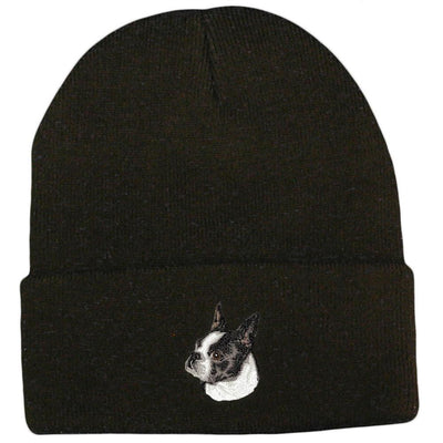 Boston Terrier Embroidered Beanies