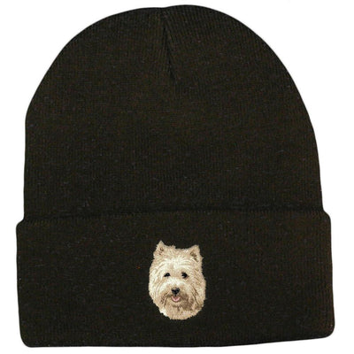 Cairn Terrier Embroidered Beanies