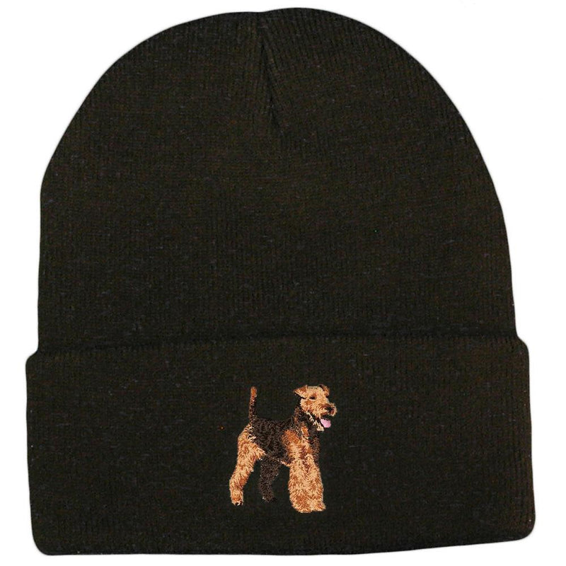 Welsh Terrier Embroidered Beanies