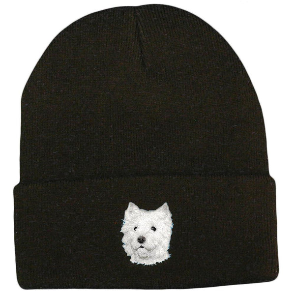 2b509e94fe3 West Highland White Terrier Embroidered Beanies