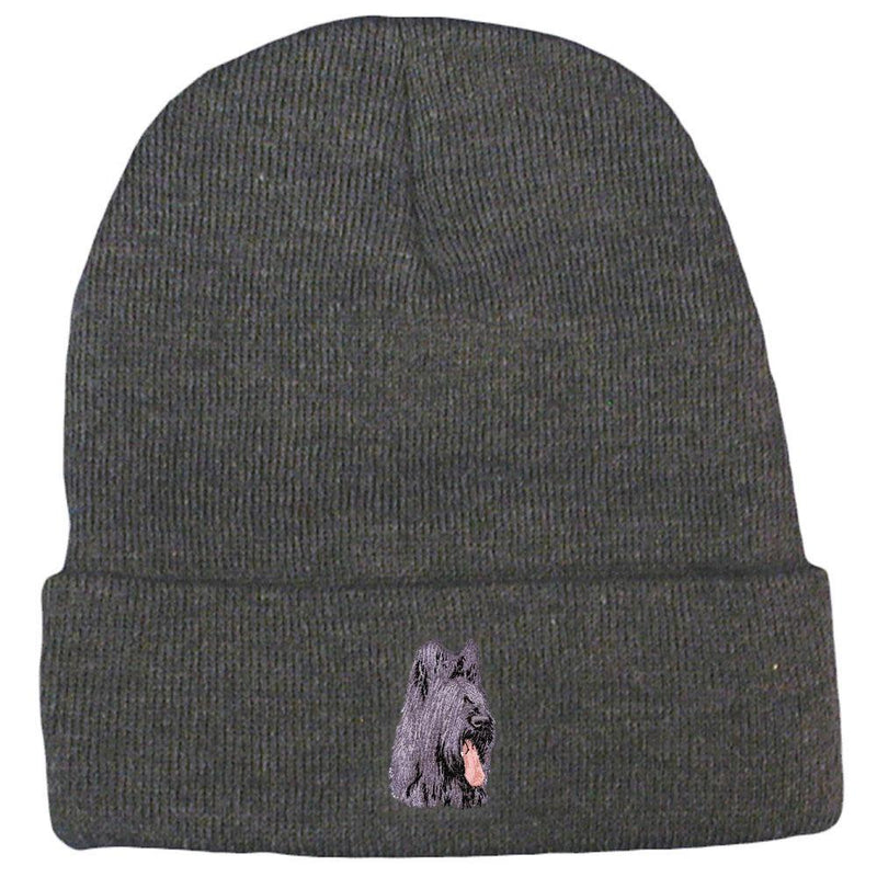 Briard Embroidered Beanies