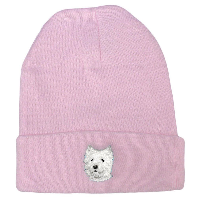 West Highland White Terrier Embroidered Beanies