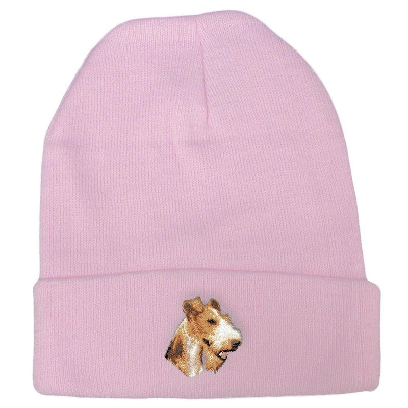 Wire Fox Terrier Embroidered Beanies