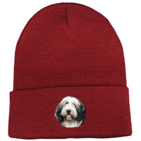 Bearded Collie Embroidered Beanies