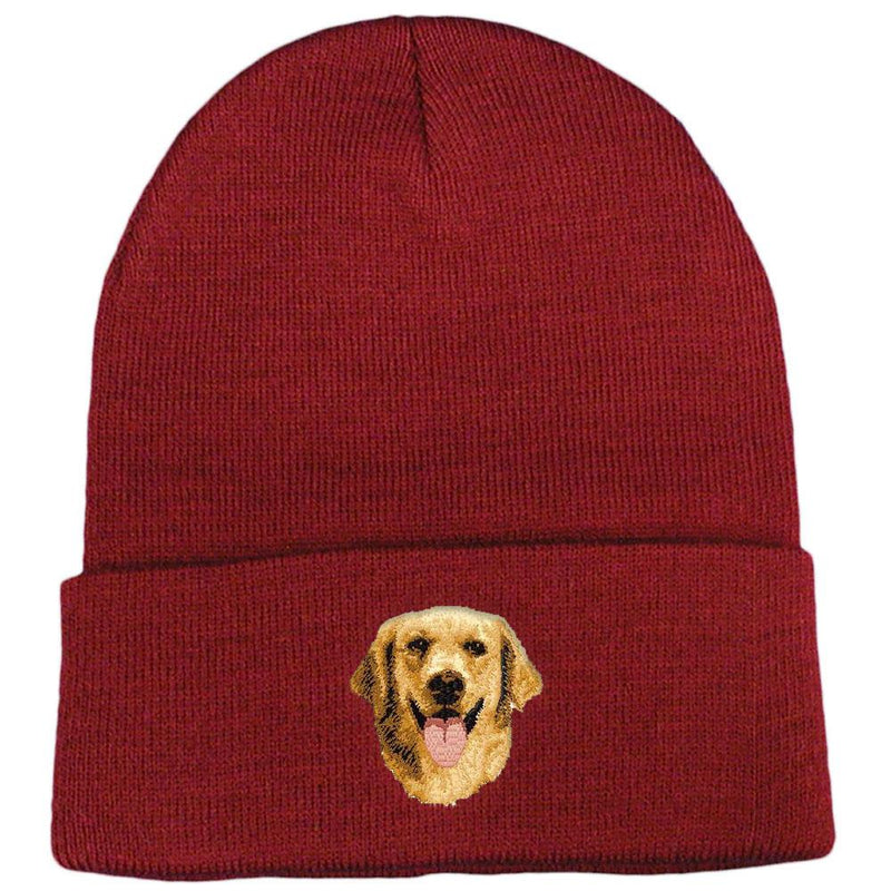 Mens and Womens Love Golden Retriever Knitted Hat 100/% Acrylic Warm Beanies Cap