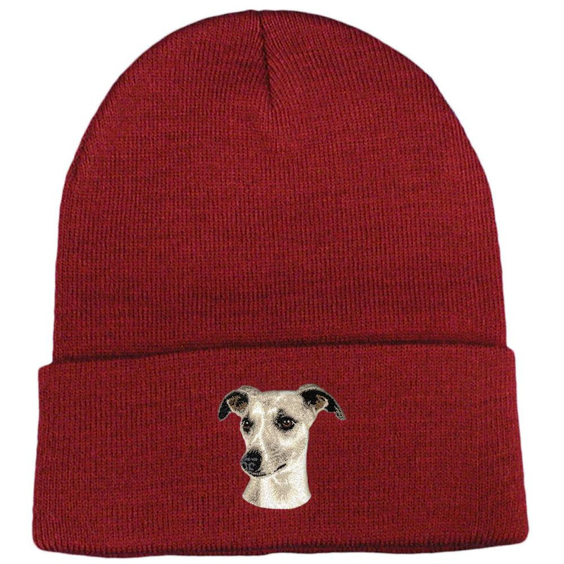 Whippet Embroidered Beanies