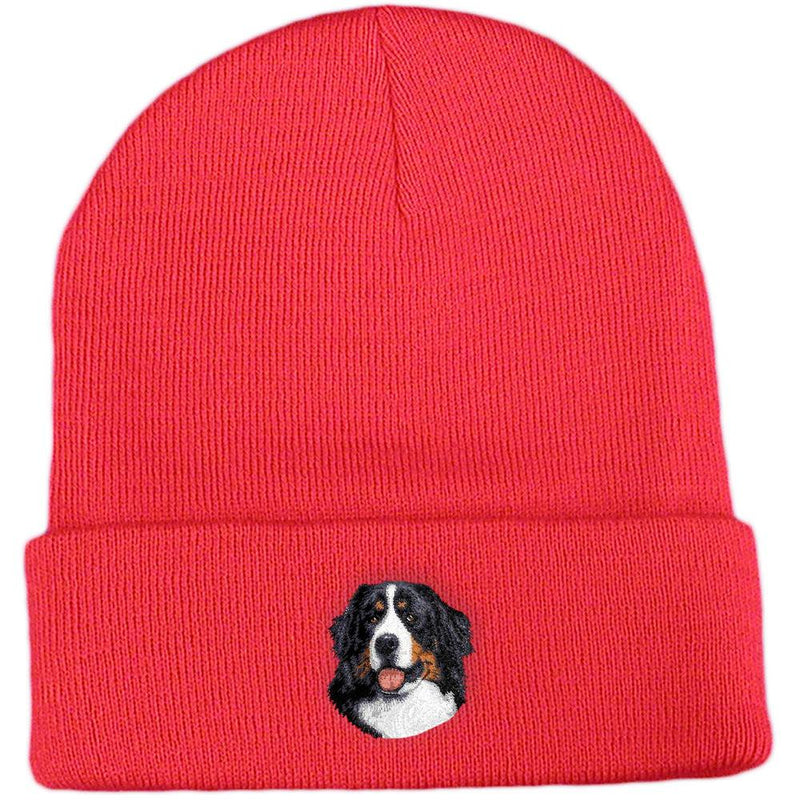 Embroidered Beanies Red  Bernese Mountain Dog D13