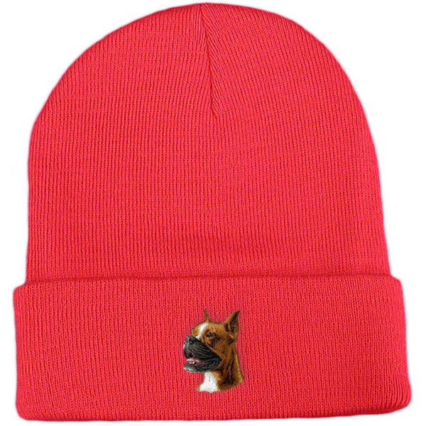Embroidered Beanies Red  Boxer D19