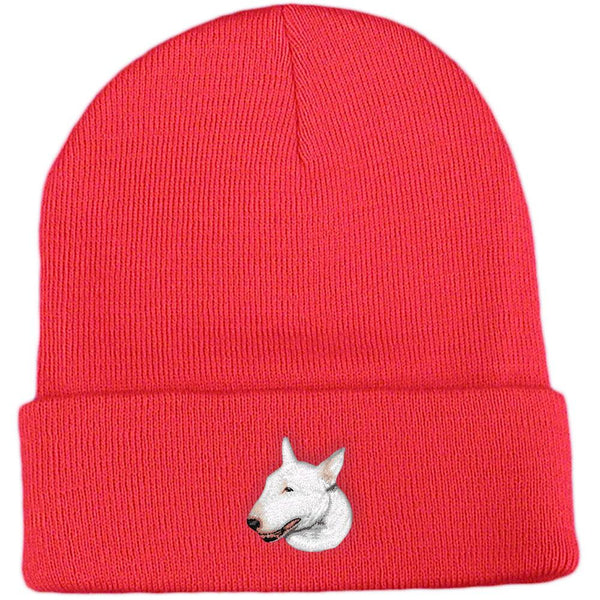 Embroidered Beanies Red  Bull Terrier D88