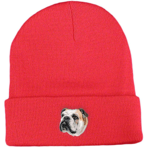 Embroidered Beanies Red  Bulldog D59