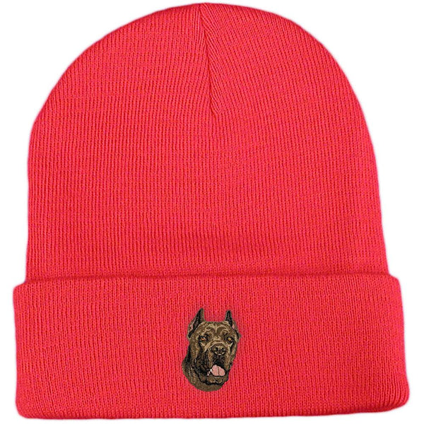 Embroidered Beanies Red  Cane Corso DV166