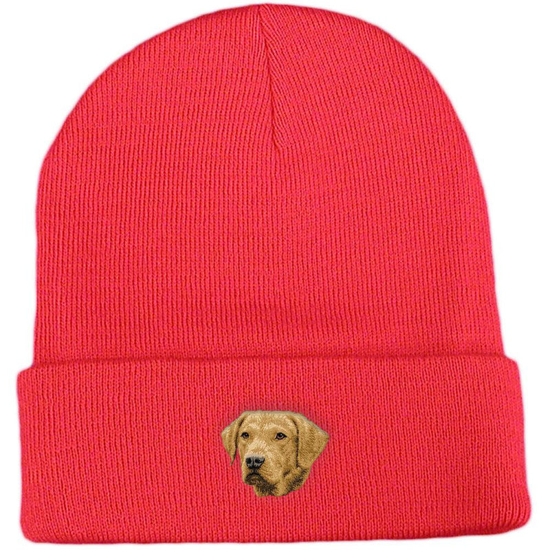 Embroidered Beanies Red  Chesapeake Bay Retriever D143