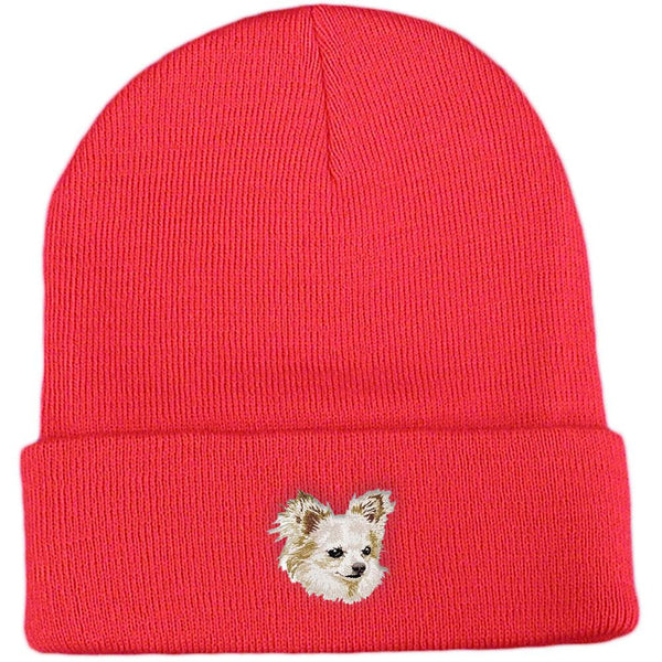 Embroidered Beanies Red  Chihuahua DV206