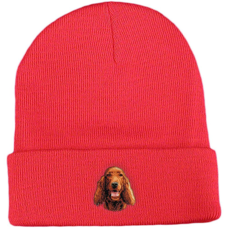 Embroidered Beanies Red  Irish Setter D23