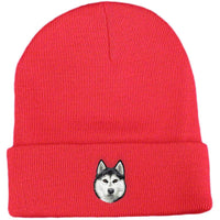 Siberian Husky Embroidered Beanies