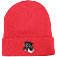 Smooth Fox Terrier Embroidered Beanies