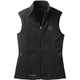 Embroidered Ladies Fleece Vests Black 3X Large Affenpinscher DM488