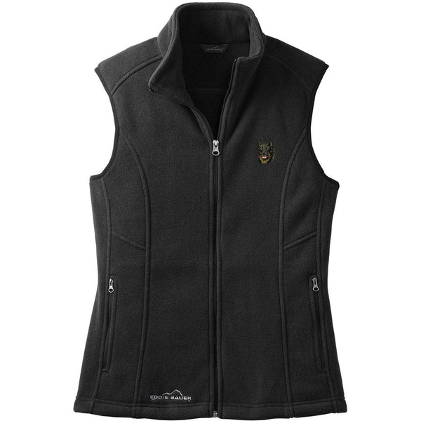 Embroidered Ladies Fleece Vests Black 3X Large Beauceron DV165