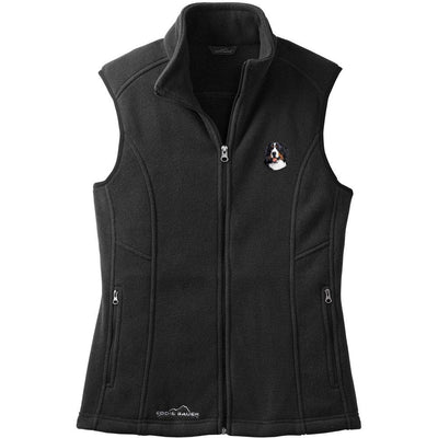 Bernese Mountain Dog Embroidered Ladies Fleece Vest