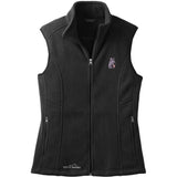 Embroidered Ladies Fleece Vests Black 3X Large Briard D72