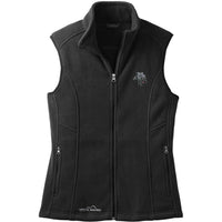 Kerry Blue Terrier Embroidered Ladies Fleece Vest
