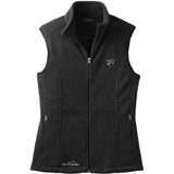 Embroidered Ladies Fleece Vests Black 3X Large Newfoundland DV469BLK