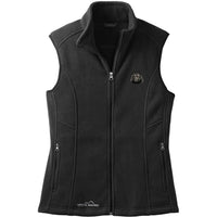 Schipperke Embroidered Ladies Fleece Vest