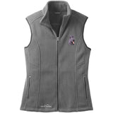 Embroidered Ladies Fleece Vests Gray 3X Large Briard D72