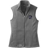 Embroidered Ladies Fleece Vests Gray 3X Large Flat Coated Retriever D53