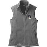 Embroidered Ladies Fleece Vests Gray 3X Large Newfoundland D73